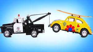Police Tow Truck Towing Toy Vehicles for Kids - YouTube