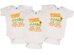 we are triplets onesies for triplets triplet gifts clothing for triplets triplet clothes by countlessmiracles73 on etsy