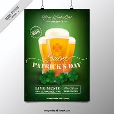 Free Templates For Posters Freebie 5 Free Flyer Poster Templates For St Patricks Day