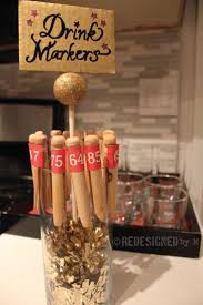 Repurpose clothes pins into drink markers.