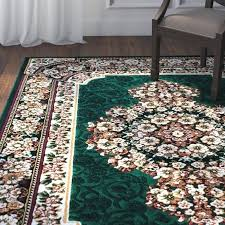 V Hunter Green Area Rugs High Quality Floral Double Shot Drop Stitch Carving  Rug Solid