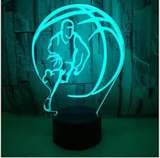 Decora Led Night Light Acrylic Night Light Basketball Player Shape 3d Design Led