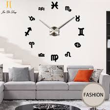 High Quality Large Mirror Wall Stickers Clock Living Room DIY Wall Clock Bedroom Bedroom  Western Style 3D Wall