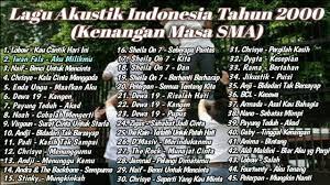 Kumpulan lagu indonesia hits di tahun 2000an. Kumpulan Lagu Pop Indonesia Terbaik Tahun 2000 An Kenangan Masa Sma Full Akustik Youtube