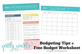 Budgeting Tips + Free Budgeting Worksheet – Pretty Presets for ...