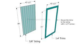 Building a shed door | Around the Ponderosa | Pinterest | Doors