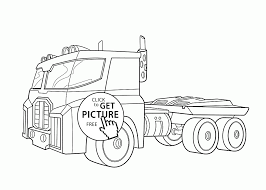 Cool Truck Coloring Page For Kids