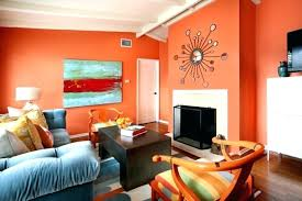 orange and blue living room ideas wall color ideas make orange living room fireplace walls light