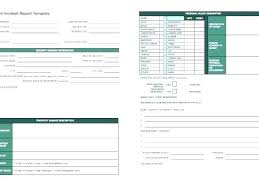 Incident Report Template Information Technology Incident