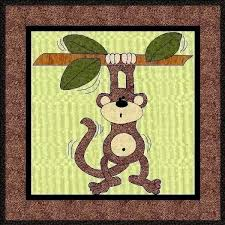 Monty The Monkey Applique Quilt Block-PDF Pattern by & Monty The Monkey Applique Quilt Block-PDF Pattern by MadCreekDesigns Adamdwight.com
