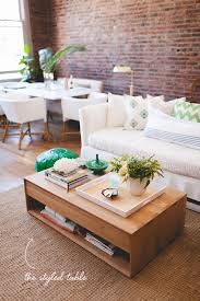 how to style your coffee table trunk style coffee table