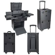 rebel series pro makeup artists multifunction cosmetics trolley train case large knight