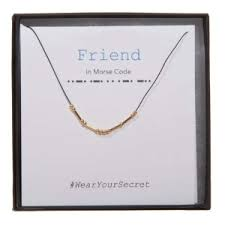 fireworks gallery jewelry necklaces strung morse code necklace friend