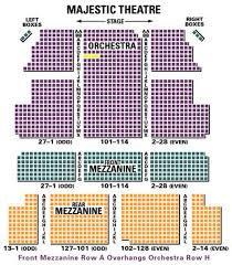 Majestic Theatre New York City Seating Chart The Majestic Theatre Seating Chart Theatre In New York