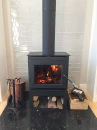 Tiled Hearth Designs For Wood Stoves Wood Burning Stove With Glass 3x12 Tile Behind Wood Stove