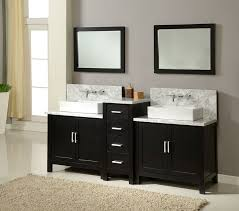 double vanity sink 60 inches. middle drawers double sink 60 inch bathroom vanity under two framed mirrors inches