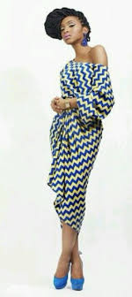 African Pattern Dress Beauteous Dress Blue Yellow African American African Print African