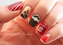 Fundamentally Flawless: Christmas Nail Art: Candy Cane, Tree ...