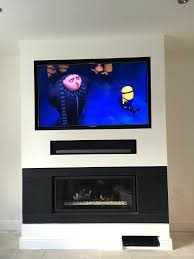 gallery pictures for hanging lcd tv above fireplace