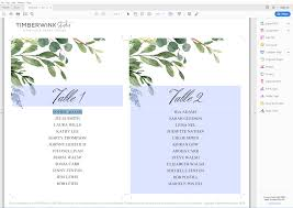 Online Wedding Seating Chart Template Greenery Inspired Seating Chart And Wedding Programs