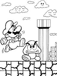 Super Mario Bros Printable Coloring Pages Color Bros