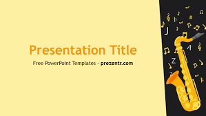 Music Powerpoint Template Free Saxophone Powerpoint Template Prezentr Powerpoint