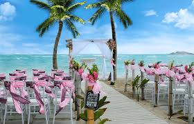 there are dozens of locations to choose from for your destination wedding but the best place is coconut bay beach resort spa in saint lucia