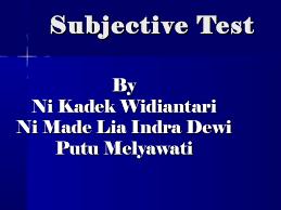 subjective test essay