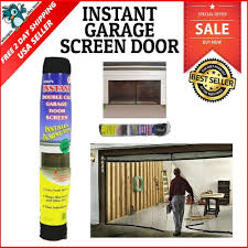 double magnetic closure garage door screen mosquito net insects bugs mesh air 744110473766