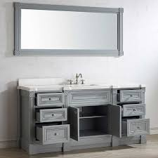 single sink traditional bathroom vanities. Contemporary Traditional Amazing 72 Inch Gray Finish Single Sink Bathroom Vanity Cabinet With Mirror  At  Inside Traditional Vanities
