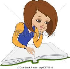 reading book vector cartoon