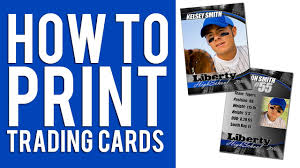 custom baseball cards how to print custom trading cards tutorial youtube