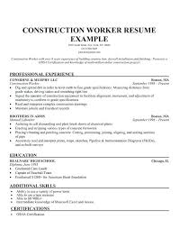 construction resume template best templates samples images on  construction