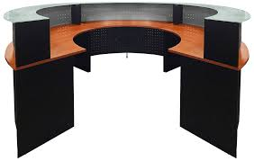 circular glass top reception desk half circle desk