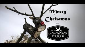 How to make a <b>wooden</b> log reindeer. Swallow Forge - YouTube