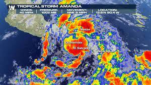 Tropical Storm Amanda Forms - WeatherNation