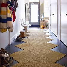Awesome Traditional Brown Zigzag Shape Color Entryway Rugs On Dark Blue  Flooring Color Also White Wall