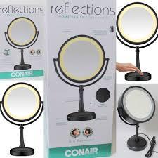 Conair Lighted Makeup Mirror Black Matte Conair Cosmetic Mirror Black Matte Finish W Touch Control