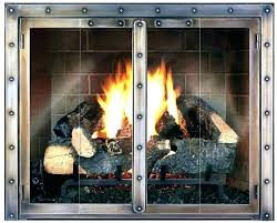 fireplace cleanout door installation chimney glass