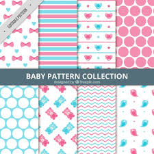 Baby Patterns Adorable Set Of Abstract Baby Patterns Vector Free Download