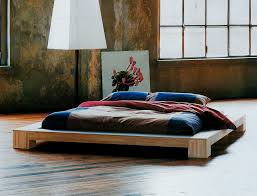 tatami bed  double  contemporary  wooden  isola  cinius