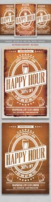 happy hour flyer party events flyer template and design happy hour flyer