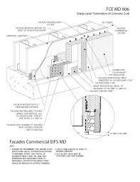 6 moisture drainage air ventilation eifs details grade level termination at concrete curb