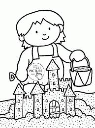 Small Picture Coloring Pages Beautiful Sand Castle Coloring Page For Kids