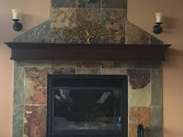 i absolutely my green slate fireplace and reddish brown mantel is there something i can do to the natural slate tile to change the color