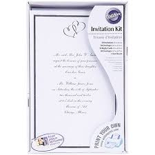 Print Your Own Invites Wilton Print Your Own Invitations Kit Silver Sweethearts 50 Ct 1008 668