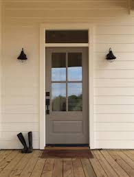 Exterior door painting ideas Black This Door In Elephant Ear Sw 9168 Looks Beautiful Against The Creamy Exterior Of This Home While Black Hardware And Light Fixtures Help To Complete The Pinterest 27 Best Front Door Paint Color Ideas Fabulous Paint Colors For