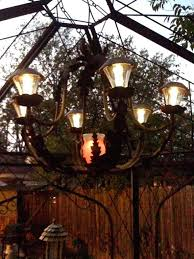 battery operated chandelier for gazebo solar with lights patio make your own