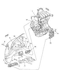 2006 chrysler pt cruiser engine mount front diagram i1100284