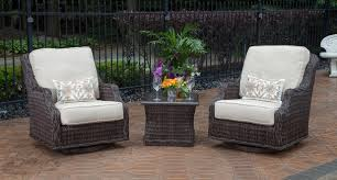 mila collection 2 person all weather wicker patio furniture set w swivel chairs